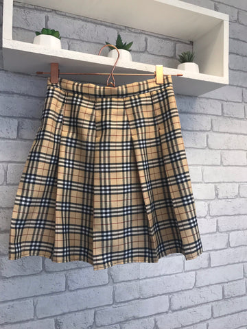 Nova Check Tartan Pleated Skirt