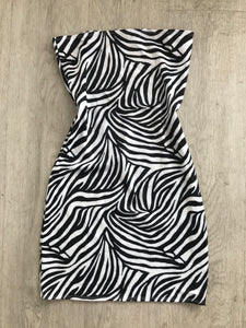 Zebra Bandeau Dress