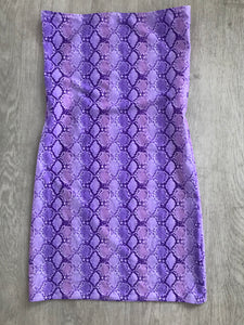 Lilac Snake Bandeau Dress