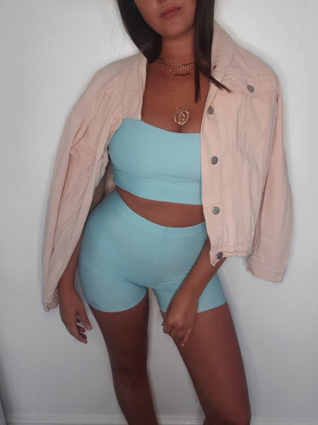 Baby Blue Strap Top