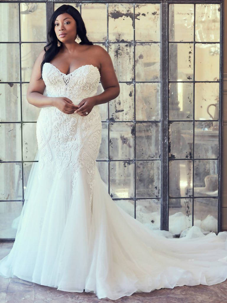 Maggie Sottero-Wedding Gown Ivory and Blush