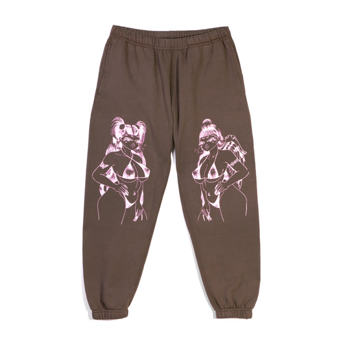 ANGEL DEVIL SWEATPANTS - BROWN