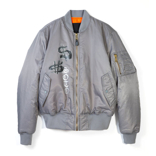 Heaven on Earth Bomber - Grey
