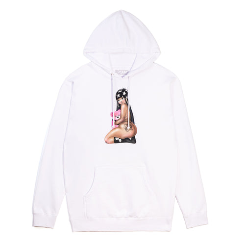 Kiss It Hoodie - White
