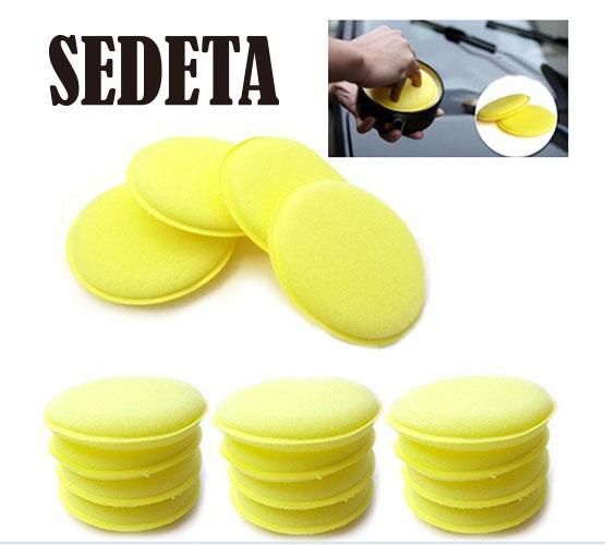 12 pcs Hand Soft Wax Yellow Sponge Pad Buffer for Car Detailing Care Wash Clean