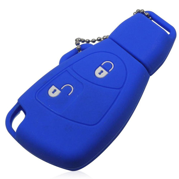 2 Buttons Smart Silicone Car Key Cover For Mercedes For Benz B C E S Ml Slk Clk Class Key Case Fob With L0g0