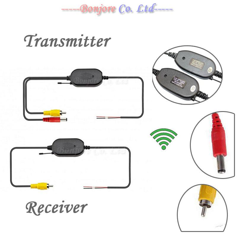 2.4G Wireless transmitter and receiver for Car Reverse Rear View backup Camera and Monitor Parking Assistance