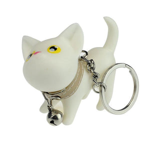 2016 Cat Kitten Keychain Keyring Bell Toy Lover Key Chain Rings For Handbag Car Accessories Aug15