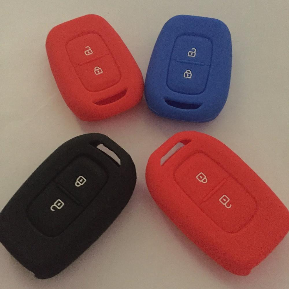 2016 model silicone car key case cover for Renault 2 buttons silicone car key key case for Renault car accessoires
