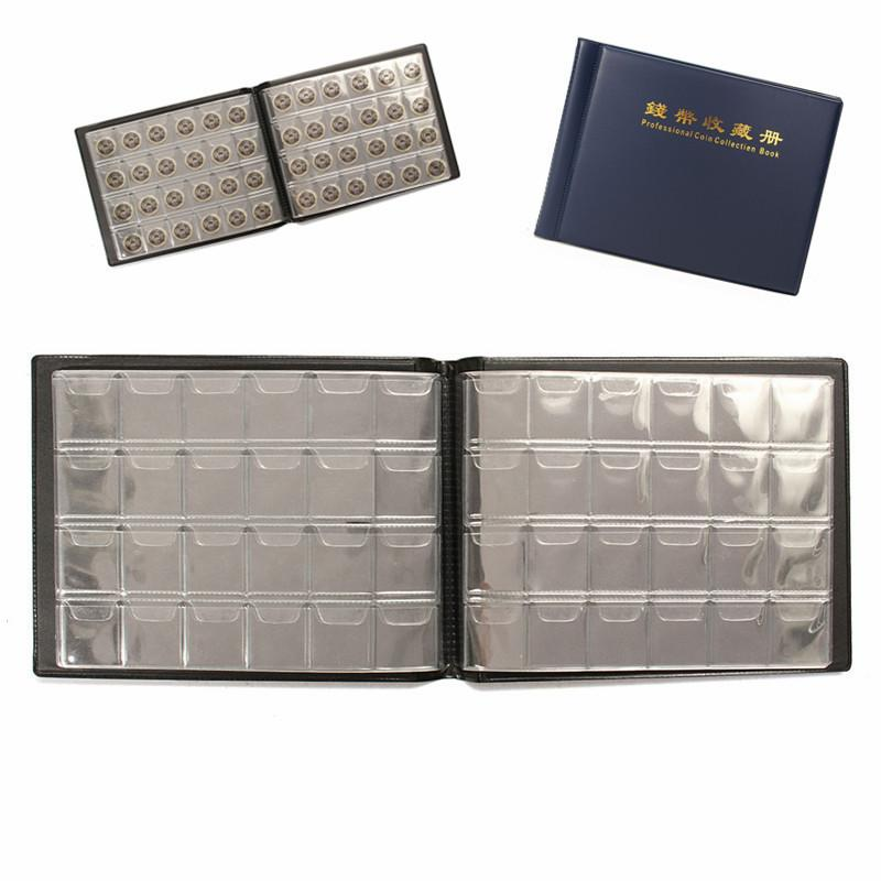 240 Holders Coin Collection Book Album Collect Money Penny 10 Pages Units Coin Album Book For Coins Collecting