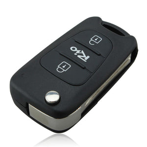 3 Buttons Car Replacement Flip Folding Key Shell Blank Remote Fob Case For Kia Rio With KIA LOGO