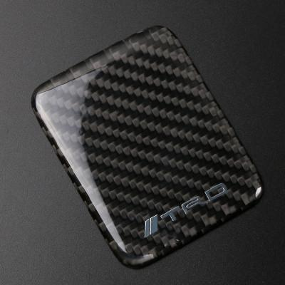 Carbon Fiber Car Refit Seat Heating Button Steering Wheel Center Door Handle Cover Trd Sti For Subaru Outback Toyota 86