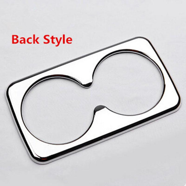 Car-styling Abs Chrome Front Back Water Cup Decorative Cover Sticker Case For Kia Sportage R 2012 2013 2014 2015 Accessories