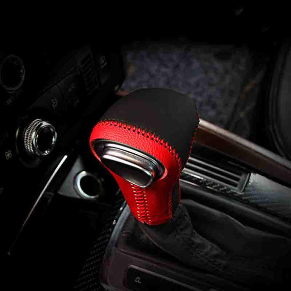 Car Styling Gear Shift Knob Cover Collars Case Leather Decoration Covers For Audi A4 B8 A5 A6 C7 Q5 Q7 2012-2015 Accessories