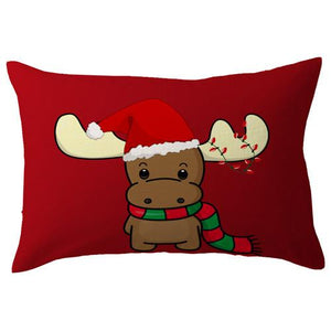 Christmas Car Pillow Case Waist Throw Cushion Cover For Sofa Home Decor U61018