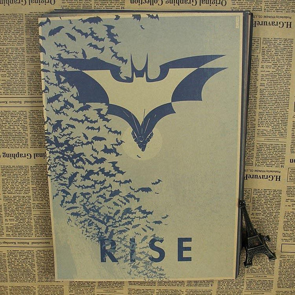 Evolution Of Batman Vintage Movie Poster Wall Paper Home Decor Cuadro Art Painting 30*21cm