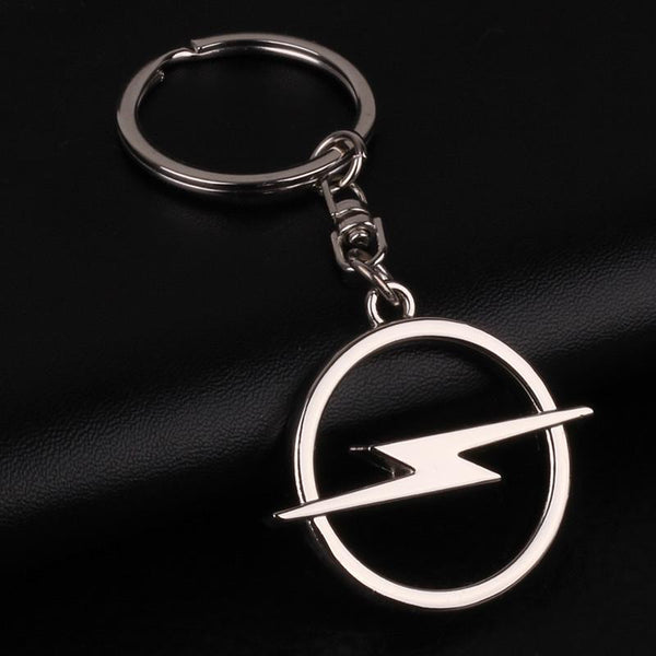 1 Pcs 3d Car Logo Keychains Opel Logo Key Chains Gold Alloy And Leather Key Rings Car Accessories Keyrings