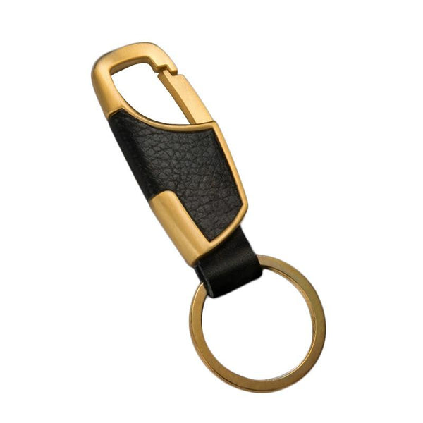 Good Leather Belt Buckle Clip Keychain Key Chain Ring 4 Color For Options
