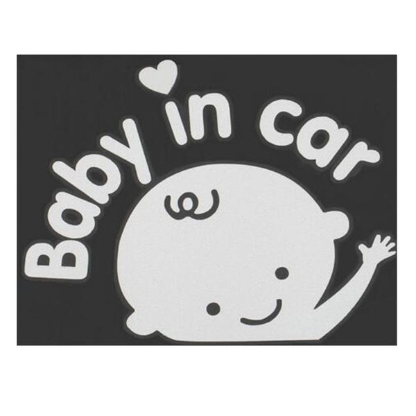 Fashion Lovely Baby On Board Cartoon Car Stickers Reflective Vinyl Styling Baby In Car Warming Car Sticker