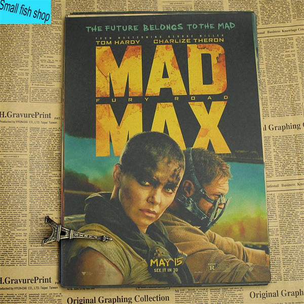 Mad Max Mel Columcille Gerard Gibson Home Furnishing Decoration Kraft Movie Poster Drawing Core Wall Stickers