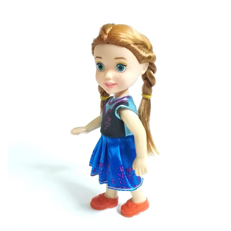 1pcs Mini Princess Elsa Anna Baby Dolls Kids Cartoon Toys For Children Girl Doll The Snow Queen Toy