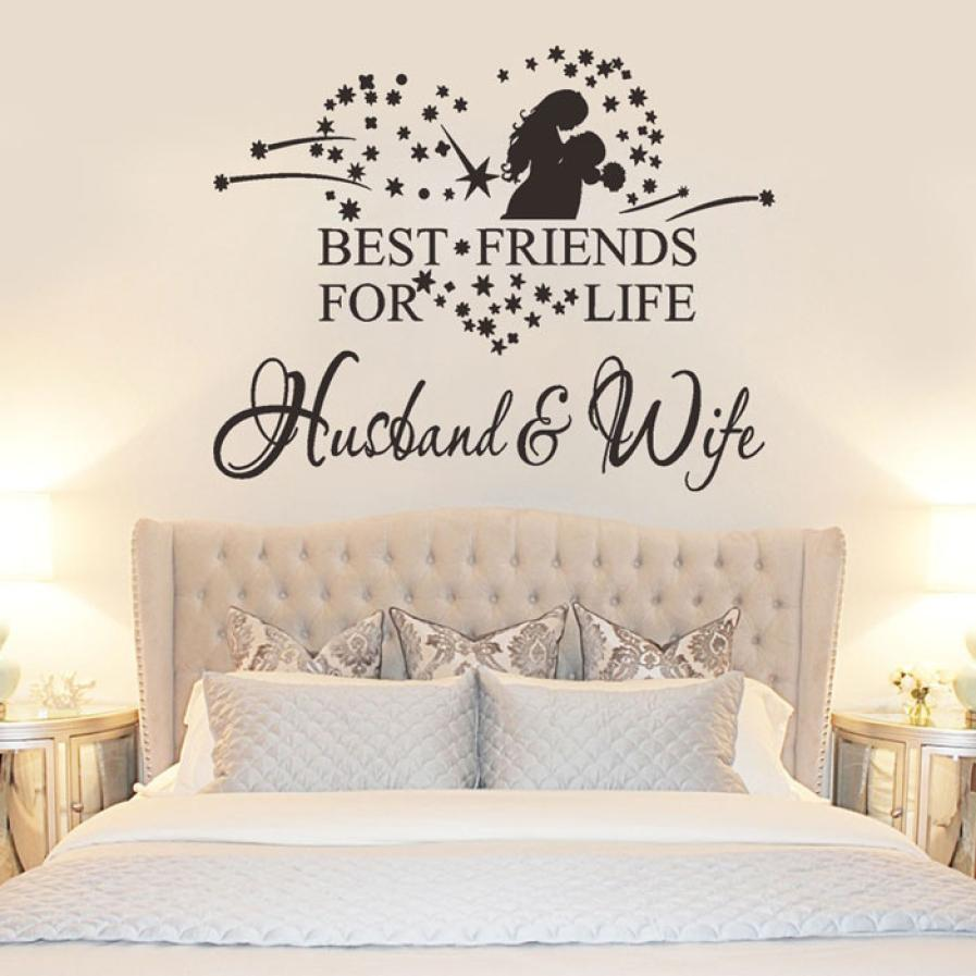 Qualified 2017 Couple Wall Sticker Husband And Wife Vinyl Decal Bedroom Wall Art Decor Sticker Home Decor Dig6428