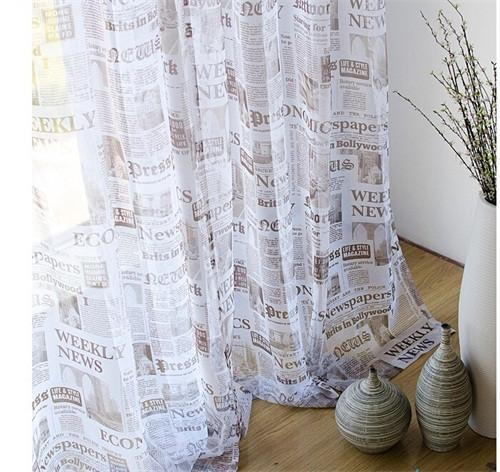 Europe Window Curtains Retro Spaper Designer Bedroom Curtain Full Sun-shading Curtains For Living Room Ds064 40