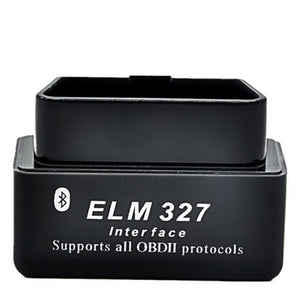 Super Bluetooth Mini Elm327 S Latest Elm 327 V1.5 Obd2 Obdii Black Car Code Scanner Tool