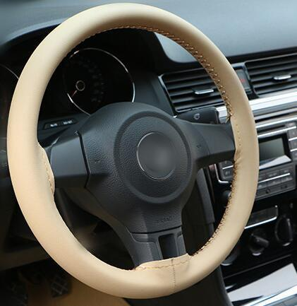 Supply High Cost Performance Car Steering Wheel Cover Diy Buck Microfiber Leather Steering Wheel Racing Covers Volante