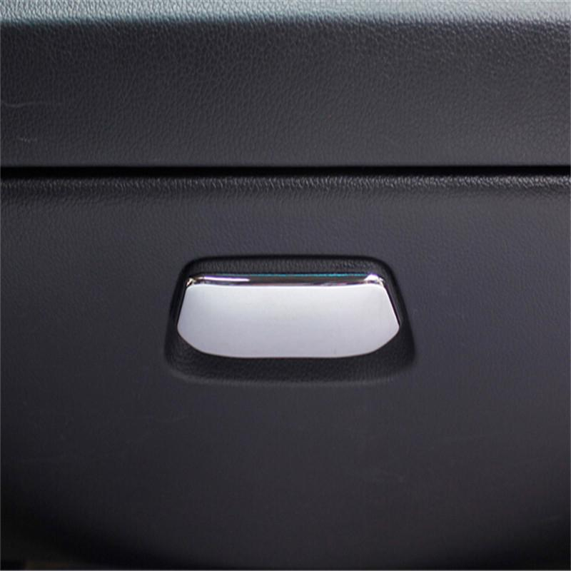Auto accessories glove box handle cover ABS Chrome trim Sequined For Kia K2 RIO 2011 2012 2013 2014