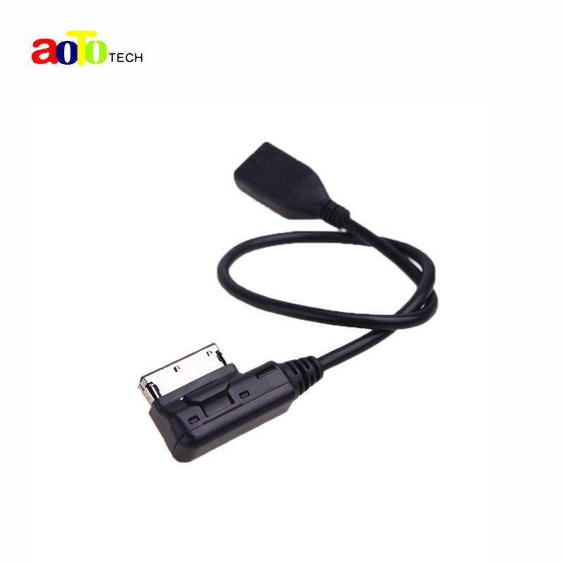 Auto Plus Car Cable Music Interface AMI MMI to USB Cable Adapter for Audi A3 A4 A5 A6 A8 Q5 Q7 Q8 VW