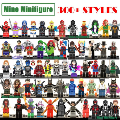 Building blocks DC Marvel superheroes Avengers Minifigures deadpool Batman spiderman iron man Toy figures compatible with lego