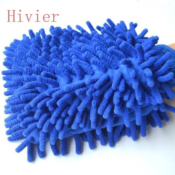 Car Microfiber Vehicle Auto Cleaning Glove Wash Mitten Cloth Washing Mitt Brush PINK BLUE Color Gloves