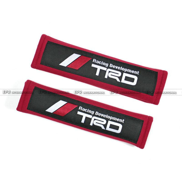 Car-styling 2pcs pair Fabric Seat Belt Cover Universal JDM For Toyota Mazda Type R JP F1 Force Mazdasped TRD