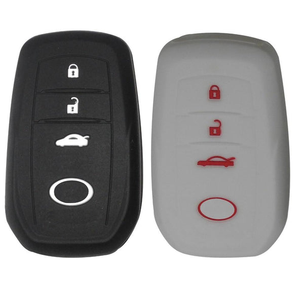 Car styling Car silicone auto key holder key shell for Toyota Corolla camry RAV4 2014 2015 auto accessories