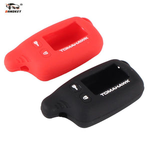 DANDKEY Key Cover Silicone Case For Tomahawk TW9010 TW9020 TW9030 TW4000 TW7010 LCD Two Way Car Alarm System Remote Control