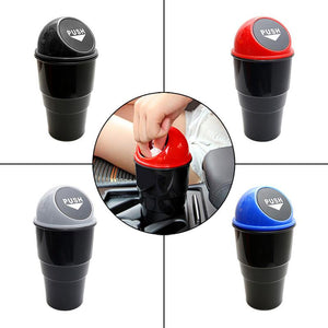 Delicate Car Garbage Can Vehicle Trash Can Garbage Dust Case Holder Bin Auto Styling Accessories DXY