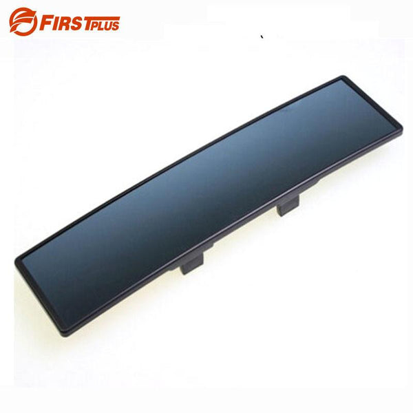 Deluxe Anti-glare Car Interior Rear View Mirror Panoramic Clip-on Wide Angle Rearview Mirrors Wire Drawing Frame Styling