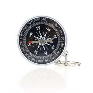 Fashion Keychain Outdoor Camping Plastic Compass Hiking Hiker Navigation Car Accessories wwg
