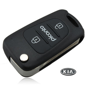 Flip Key Shell fit for KIA Picanto Remote key Case Fob With KIA LOGO