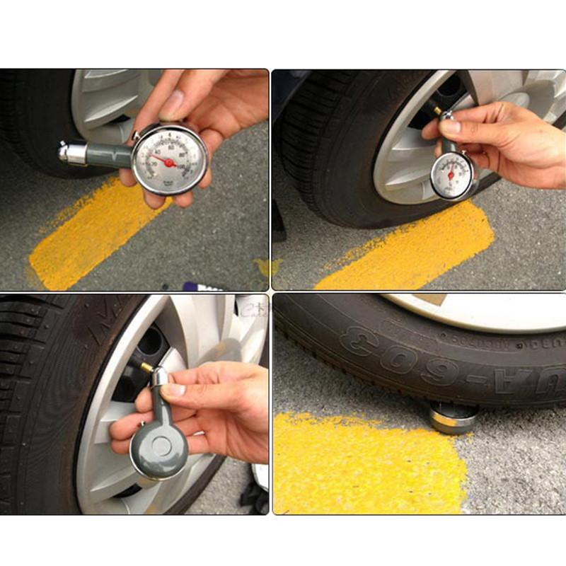 1pcs Metal Car Tire Pressure Gauge Air Pressure Meter Tester Diagnostic Tool Second Hand car repair high precision