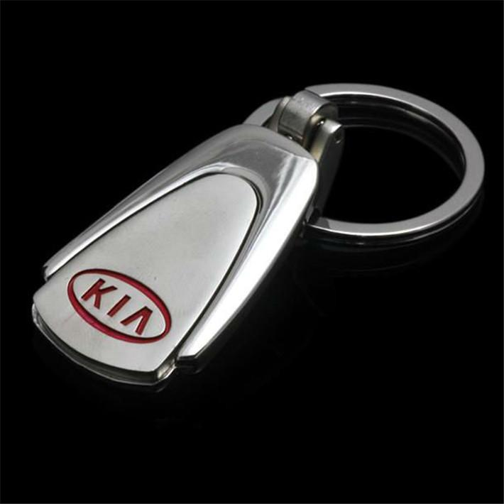 Box Metal Water Drop Car Logo Keychain Keyring For KIA Auto Key Chain Ring Keyfob YOWO