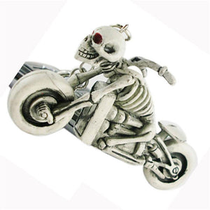Key Chains Charming Motorcycle Skull Purse Bag Car Key Ring Rubber Auto Keyring