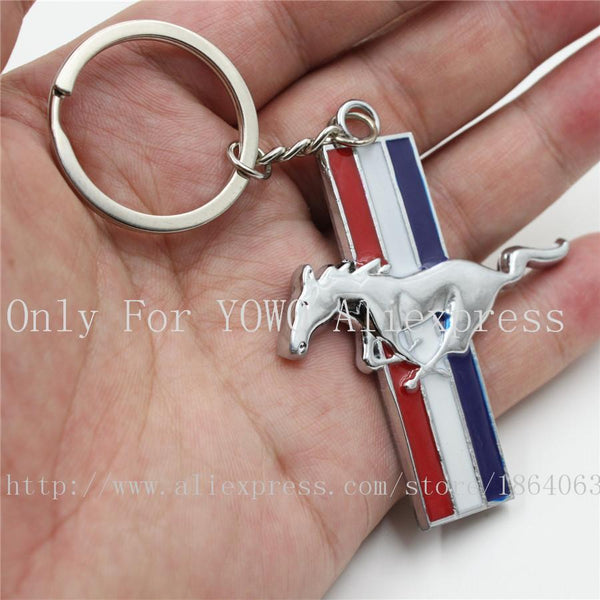 Metal 3D Car Keychain Keyring For MUSTANG Auto Tire Key Chain Ring Keyfob YOWO
