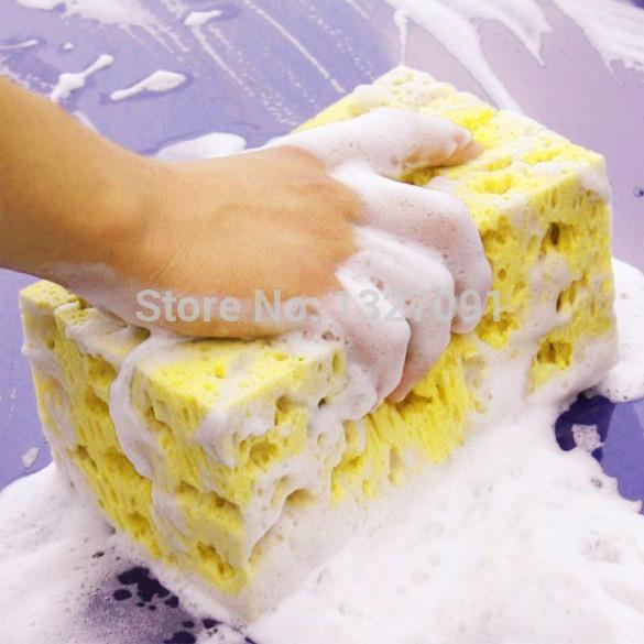 Mini Yellow Car Auto Washing Cleaning Sponge Block Car Care Cleaning Tool