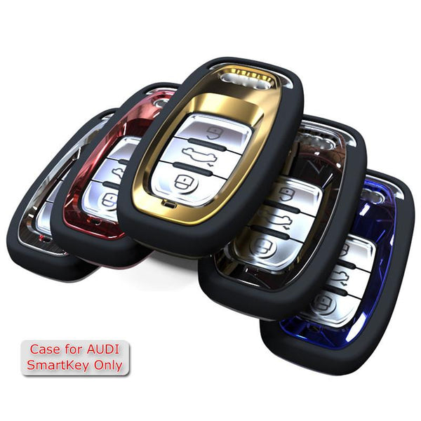 Mirror Reflection Key Rings Protection Cover for Audi A4 A4L A5 A6 A6L Q5 S5 S7 Protect Shell Car Styling Cover Case