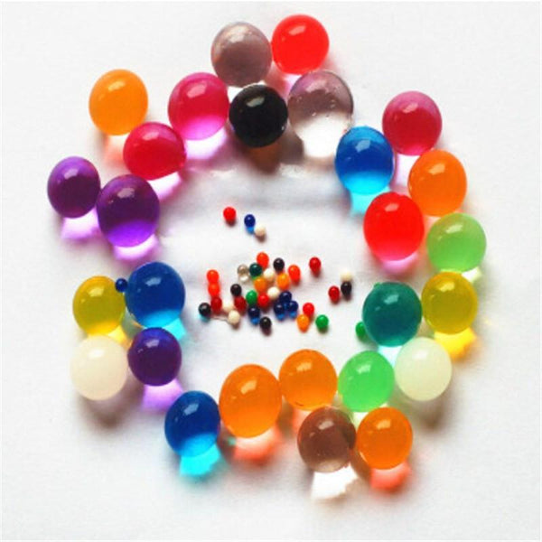 10000PCS Bag Crystal Soil Water Beads Home Decor Pearl Shaped Bio Gel Ball For Flower Weeding Mud Grow Magic Jelly Balls