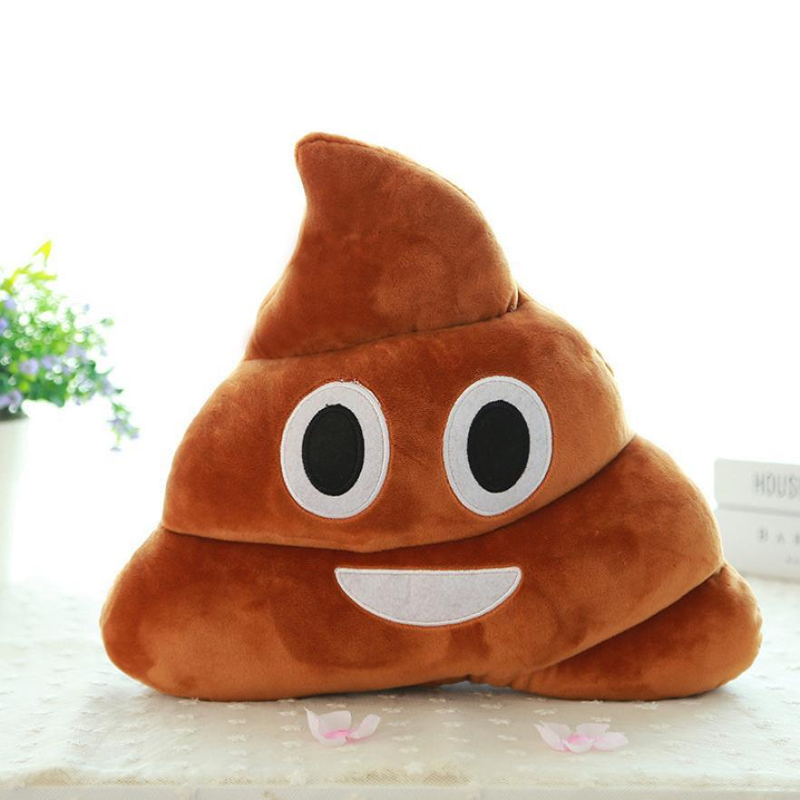 Car-styling Brown Emoji Smiely Poop Pillow Plush Cushions Decor Car Key Ring chain nr1