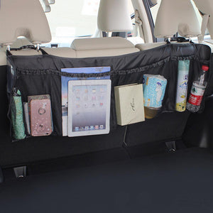 Practical Car Auto Back Rear Trunk Seat Elastic String Net Mesh Storage Bag Bag Cage Light weight And Durability