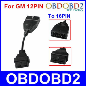 est OBD OBD2 Connector For GM 12 Pin Adapter to 16Pin Diagnostic Cable For GM 12Pin For GM Vehicles